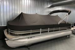 Black Cover of a 2010 Premier 225 Sunsation LTD RF Pontoon Boat