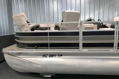 Black and Tan Exterior Color of a 2010 Premier 225 Sunsation LTD RF Pontoon Boat 2