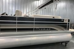 Tan Graphics of a 2010 Premier 225 Sunsation LTD RF Pontoon Boat