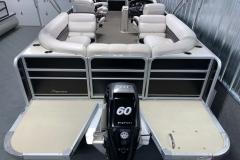 Rear Swim Deck of a 2010 Premier 225 Sunsation LTD RF Pontoon Boat 2