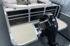 Rear Swim Deck of a 2010 Premier 225 Sunsation LTD RF Pontoon Boat