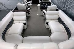 Interior Layout of a 2010 Premier 225 Sunsation LTD RF Pontoon Boat