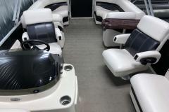 Interior Rear Layout of a 2010 Premier 225 Sunsation LTD RF Pontoon Boat
