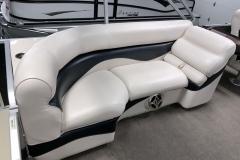 Port Side Interior Seating of a 2010 Premier 225 Sunsation LTD RF Pontoon Boat