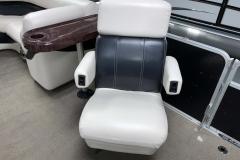 Co-Captain's Chair of a 2010 Premier 225 Sunsation LTD RF Pontoon Boat