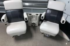 Reclining Bow Chairs of a 2010 Premier 225 Sunsation LTD RF Pontoon Boat