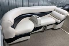 Starboard Side Interior Seating of a 2010 Premier 225 Sunsation LTD RF Pontoon Boat