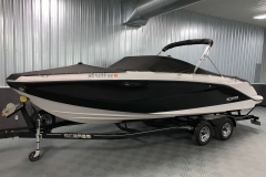 Snap-On Bow and Cockpit Covers of a 2018 Scarab Jet 255 G Jet Boat