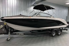 Snap-On Bow Cover of a 2018 Scarab Jet 255 G Jet Boat