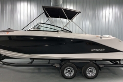 Easy Fold Bimini Top of a 2018 Scarab Jet 255 G Jet Boat