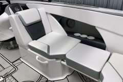 Interior Cockpit Seating of a 2018 Scarab Jet 255 G Jet Boat