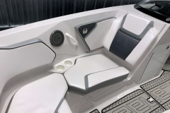 Interior Bow Seating of a 2018 Scarab Jet 255 G Jet Boat