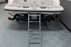 Rear Boarding Ladder of a 2018 Scarab Jet 255 G Jet Boat