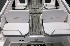 Versa Lounging Swim Deck of a 2018 Scarab Jet 255 G Jet Boat