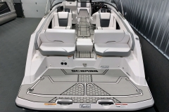 Rear Swim Deck of a 2018 Scarab Jet 255 G Jet Boat
