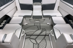 Rear Wraparound Seating of a 2018 Scarab Jet 255 G Jet Boat
