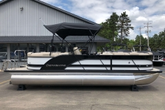 Black and White Exterior of a 2019 Berkshire 23RFX STS Pontoon 3