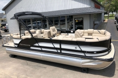Black and White Exterior of a 2019 Berkshire 23RFX STS Pontoon 1