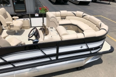 Black and White Exterior of a 2019 Berkshire 23RFX STS Pontoon 4