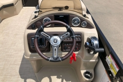 Drivers Console of a 2019 Berkshire 23RFX STS Pontoon