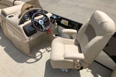 Helm and High Back Captain's Chair of a 2019 Berkshire 23RFX STS Pontoon