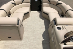 Interior Bow Layout of a 2019 Berkshire 23RFX STS Pontoon