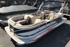 Black and White Exterior of a 2019 Berkshire 23RFX STS Luxury Pontoon 1