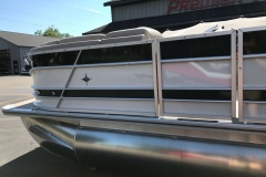 Black and White Exterior of a 2019 Berkshire 23RFX STS Luxury Pontoon 4