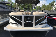 Black and White Exterior of a 2019 Berkshire 23RFX STS Luxury Pontoon 2