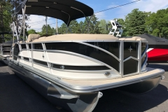 Black and White Exterior of a 2019 Berkshire 23RFX STS Luxury Pontoon 3