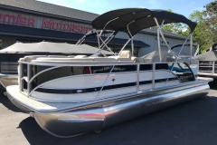 Tri-Colored Exterior Design of a 2019 Berkshire 23RFX STS Luxury Pontoon