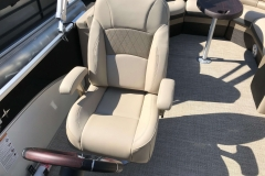 High Back Captain's Chair of a 2019 Berkshire 23RFX STS Luxury Pontoon