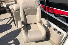 High Back Co-Captain's Chair of a 2019 Berkshire 23RFX STS Luxury Pontoon
