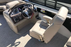 Helm and Captain's Chair of a 2019 Berkshire 23RFX STS Luxury Pontoon