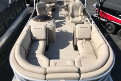 Wicker Vinyl Flooring of a 2019 Berkshire 23RFX STS Luxury Pontoon
