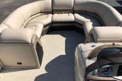 Portable Gate Seat of a 2019 Berkshire 23RFX STS Luxury Pontoon
