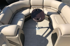 Interior Stern Layout of a 2019 Berkshire 23RFX STS Luxury Pontoon