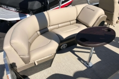 Port Side Stern Seating of a 2019 Berkshire 23RFX STS Luxury Pontoon