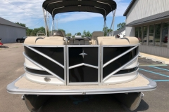 Black and White Exterior of a 2019 Berkshire 23RFX STS Pontoon 2