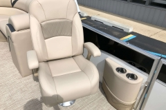 High Back Co-Captain's Chair of a 2019 Berkshire 23RFX STS Pontoon