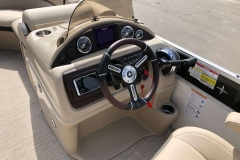 Driver's Console of a 2019 Berkshire 23RFX STS Pontoon