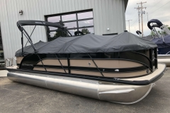 Snap-On Black Cover of a 2019 Berkshire 23RFX STS Pontoon