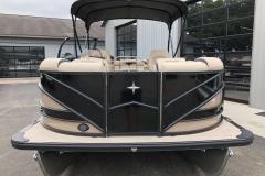 Tan and Black Exterior of a 2019 Berkshire 23RFX STS Pontoon 2