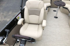 High Back Captain's Chair of a 2019 Berkshire 23RFX STS Pontoon