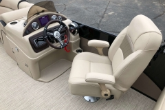 High Back Captain's Chair and Helm of a 2019 Berkshire 23RFX STS Pontoon