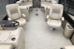 Interior Stern Layout of a 2019 Berkshire 23RFX STS Pontoon 2