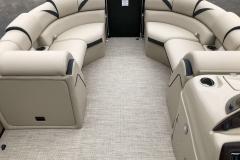 Interior Bow Layout of a 2019 Berkshire 23RFX STS Pontoon