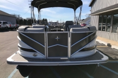 Charcoal and Black  Exterior of a 2019 Berkshire 23RFX STS Pontoon 2