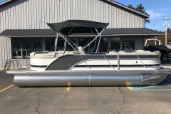 Charcoal and Black  Exterior of a 2019 Berkshire 23RFX STS Pontoon 3