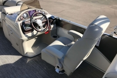 Helm and Captain's Chair of a 2019 Berkshire 23RFX STS Pontoon